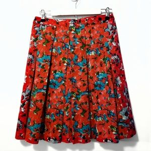Talbots Size 2P Fully Lined Floral Skirt